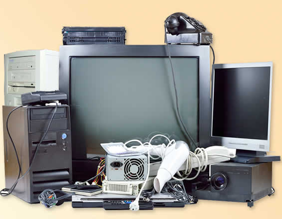 Superior House Clearance services will remove and dispose of electrical good including TV's and Computers