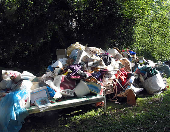 house clearance services with junk removal from garden