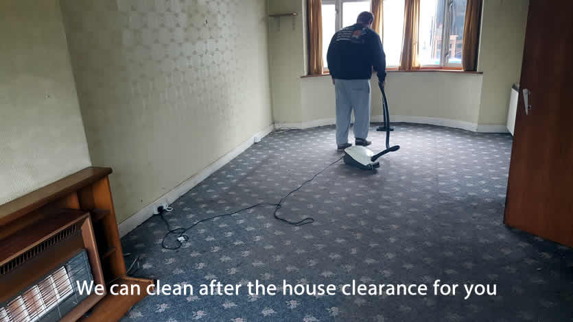 We can clean the property for you after the clearance