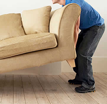 House clearance services Sofa being removed