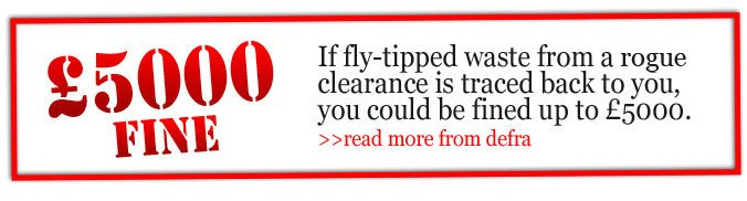 DEFRA Clearance Fly tipping notice