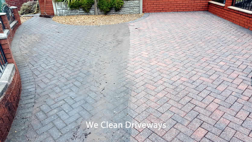 We Power Clean Driveways