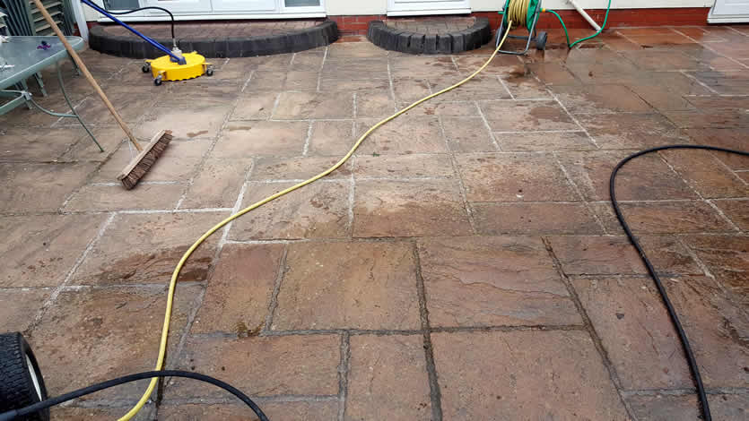 Patio Cleaning at the start